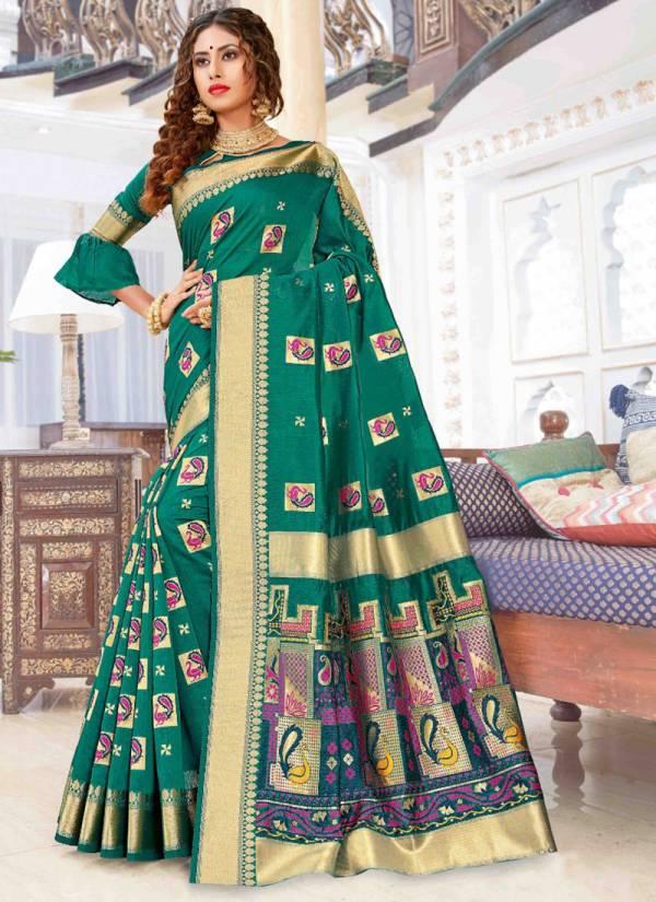 Sangam Baluchari Series 1001-1006 Pure Chanderi Cotton Exclusive Designer Traditional Ware Sarees Collection