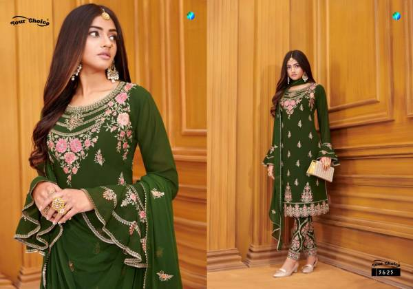 Your Choice Shahnaz Series 3623-3627 Blooming Georgette With Heavy Embroidery Work wedding Wear Salwar Suits Collection
