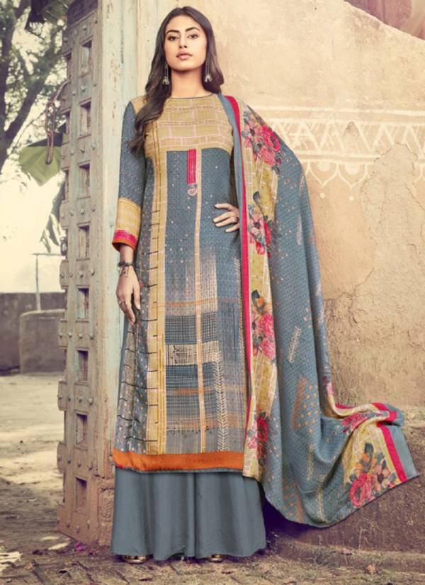 Winter Series 202-001 - 202-010 Stylish Look Wither Season Pashmina Digital Style Print Suits Collection