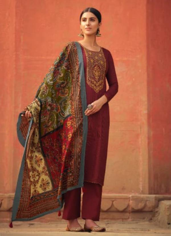 Levisha Panihari Series 6213-6220 Pure Jam Cotton Print With Heavy Self Embroidery Work New Fancy Palazzo Suits Collection
