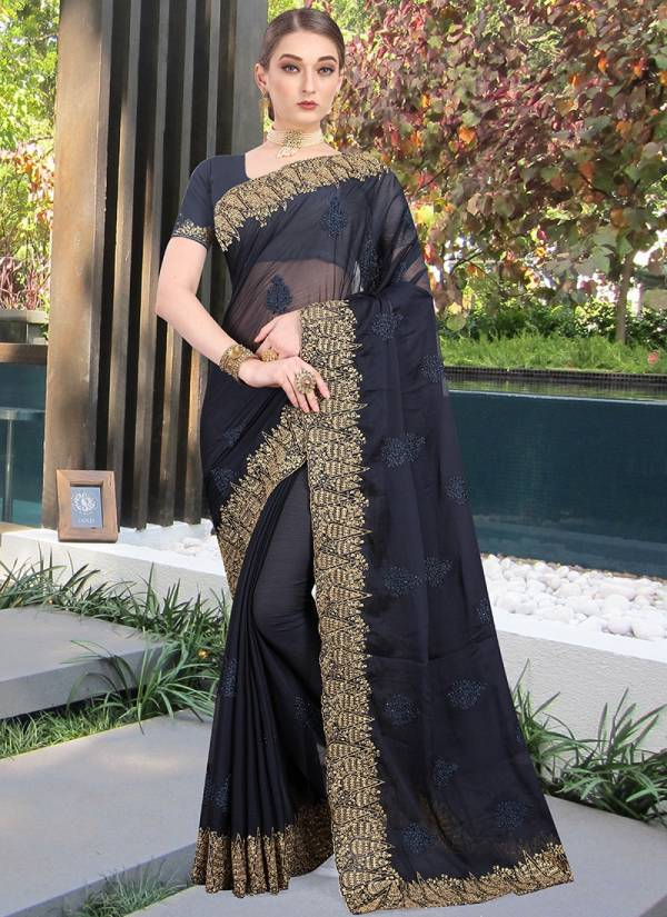 Nari Fashion Festival Series 2541-2548 Honey Chiffon Heavy Resham & Jari Work & Stone Work Latest Festival Wear & Wedding Wear Saree Collection