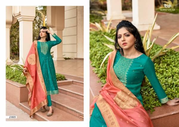 Siddhi Sagar Hayat Pure Banarasi Silk Salwar Suits Collection