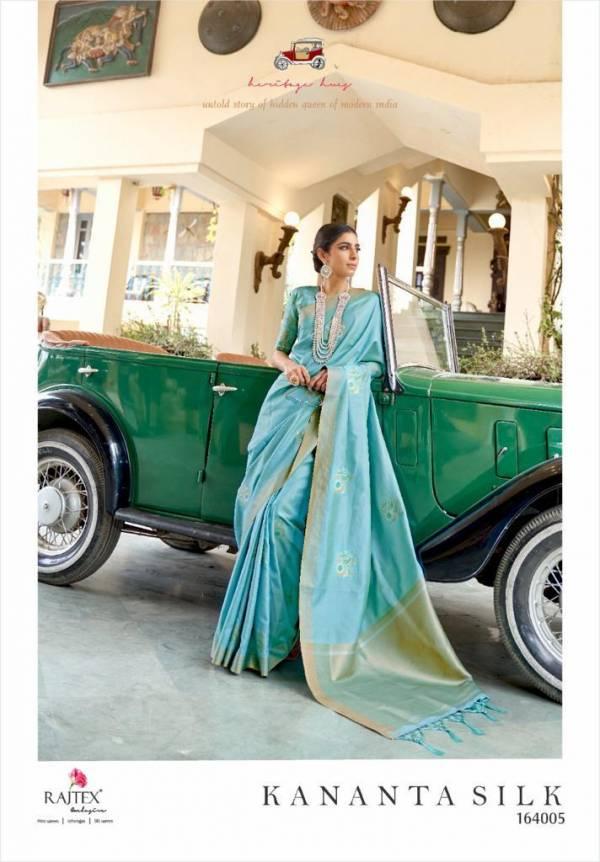 Rajtex Kananta Silk Soft Banarasi Silk With Zari Work Festival Wear Sarees Collection