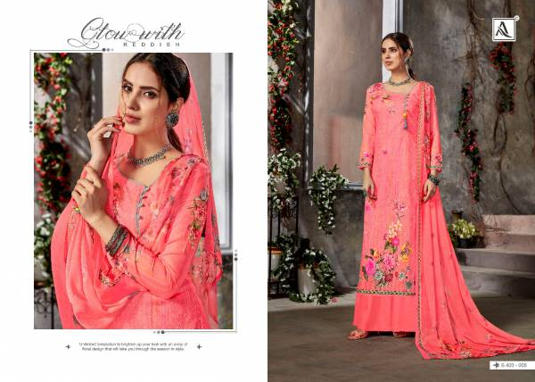 Alok Suit Richa Pure Cotton Designer Digital Print with Aari Work Festival Wear Palazzo Suits Collection