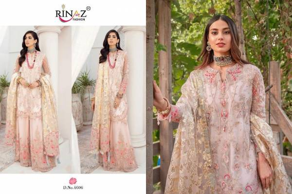 Rinaz Fashion Jazmin Vol 15 Series 4601-4606 Butterfly Net With Heavy Embroidery & Diamond Work Pakistani Suits Collection
