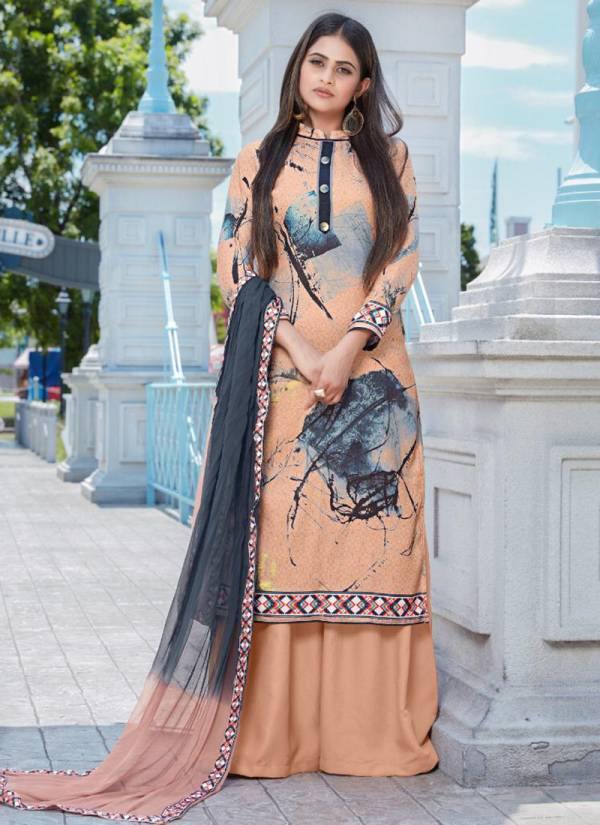 Bipson Signature Series 891-897 Winter Special Woollen Pashmina Lurex Digital Print Daily Wear Palazzo Suits Collection
