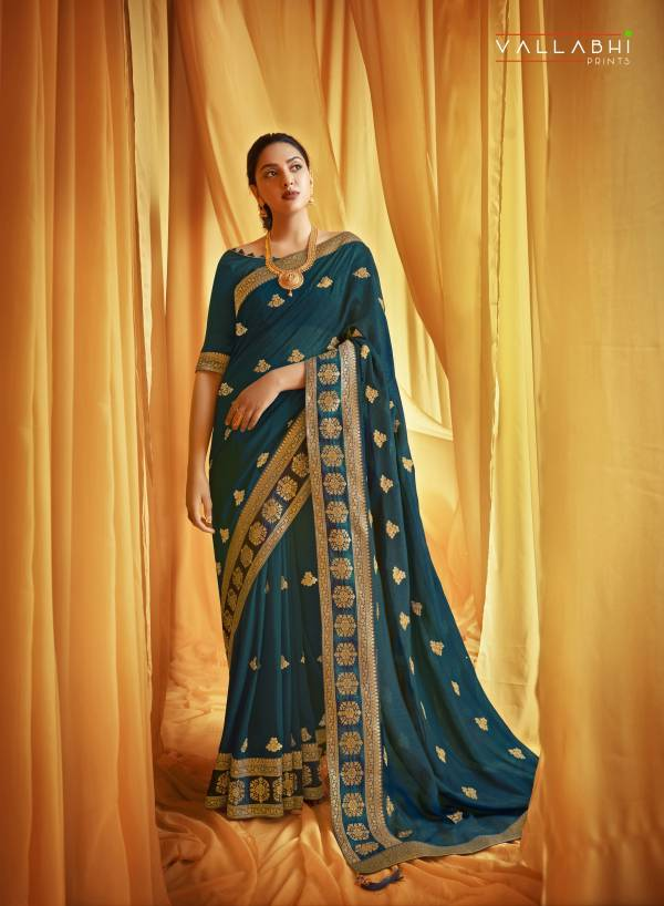 Triveni Dazzling Era Series 29091-29098 Vichitra Silk With Heavy Embroidery Work Wedding Wear Sarees Collection
