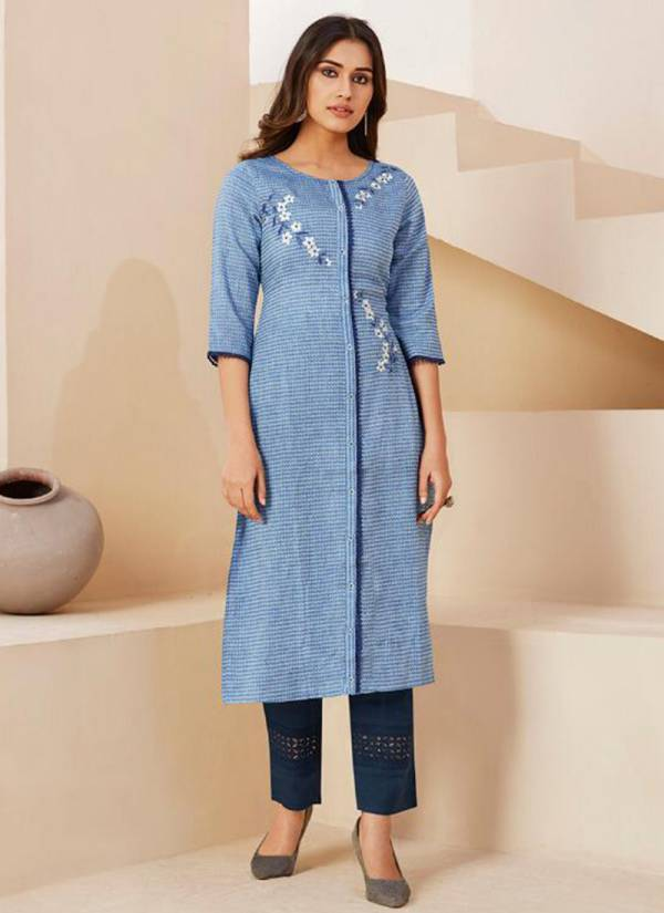 Lt Fabric Inaya Fancy Cotton Traditional Wear Readymade Kurti With Pant Collections