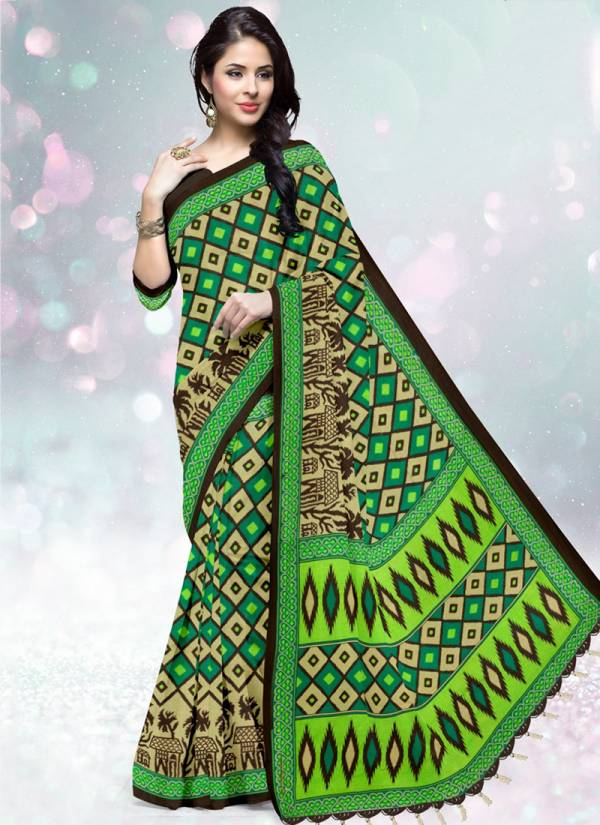 Deeptex Prints Ikkat Special Vol 3 Series 3001-3020 Latest Pure Cotton Regular Wear Printed Sarees Collection
