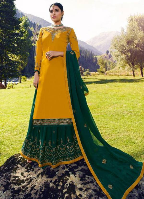 RSF Fiza Series 17701-17706 Pure Satin Georgette Silk With Heavy Embroidery & Hand Work Long Suits Collection