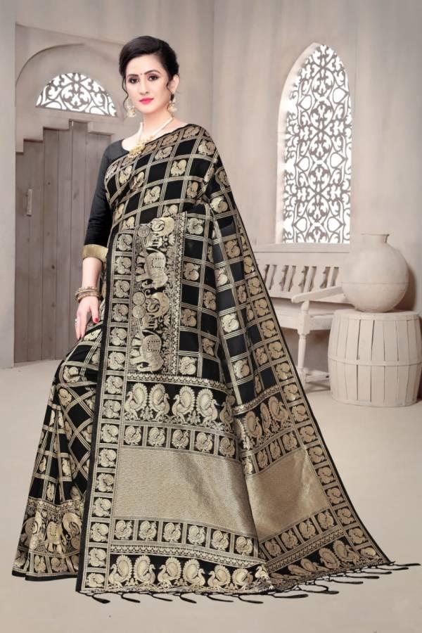 Shiv Enterprise Royal Box Banarasi Soft Silk Fancy Embroidery Work Wedding Wear Designer Sarees Collection