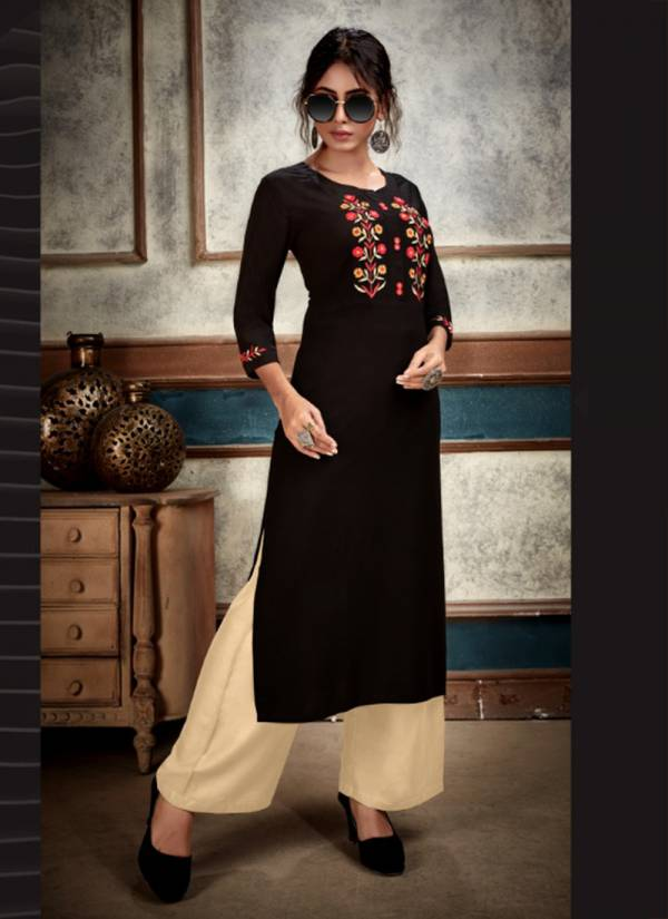 Venika Creation Insight Vol 2 Series 1022-1027 Premium Rayon With Heavy Embroidery Work Fancy Kurtis With Palazzo Collection