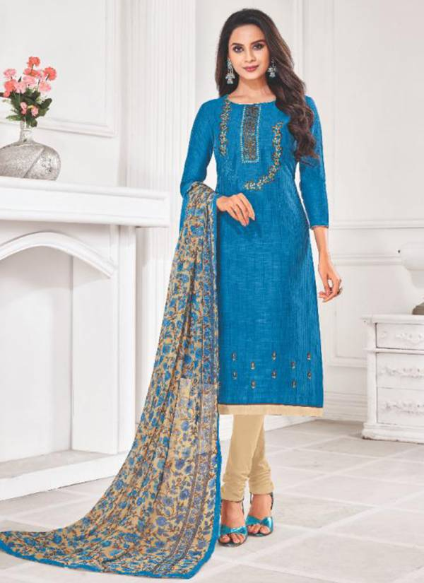 Shagun Autograph Vol 14 Series 14001-14012 Linen Slub With Embroidery Work  Daily Wear Churidar Suits Collection