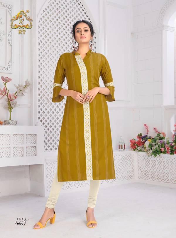Rijiya Trendz Antra Vol 3 Rayon Weaving Strips With Fancy Work Daily Kurti Collection