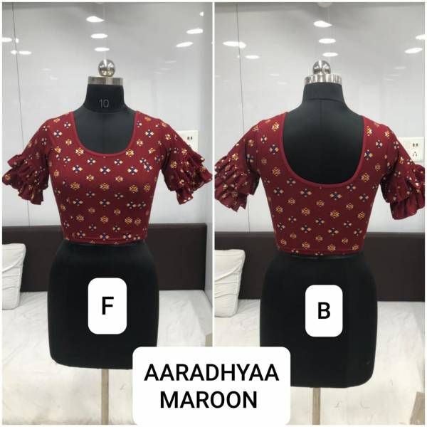 Ruhi Fashion Aaradhyaa Series AA-01 - AA-10 Fancy Tele Star Stretchable Round Shape Half Style Readymade Blouses Collection