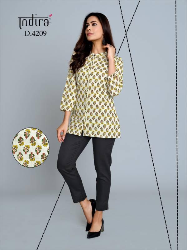 Indira Apparel's Kameez Vol 2 Series 4201-4210 Pure Jaipuri Cambric Cotton New Designer Tops Collection