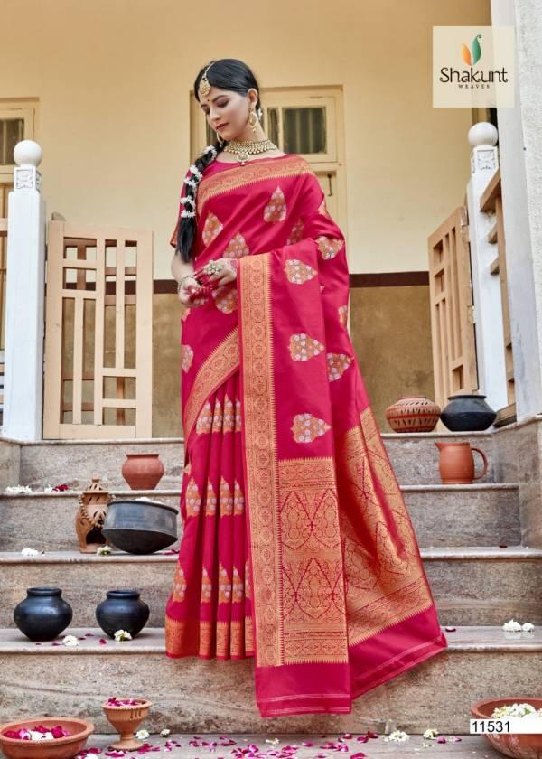 Shakunt Darpan Jacquard Soft Silk Wedding Wear Designer Sarees Collection