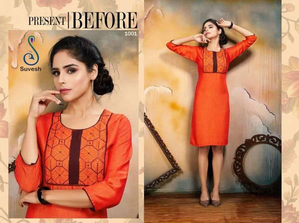 Suvesh Niyati Vol 2 Series 1001-1008 Rayon Two Tone Office Wear Kurtis Collection