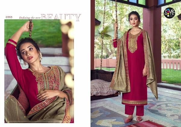 Four Dots Manjari Vol 4 Parampra Silk With Fancy Cording Embroidery Work Salwar Suit Collection