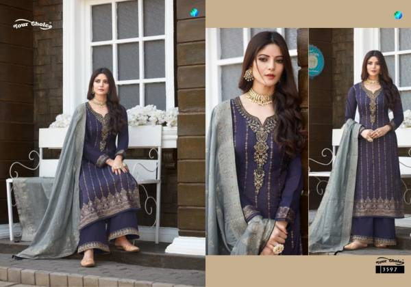 Your Choice Fabulous Modal Dolla Jacquard Festival Wear Palazzo Suits Collection