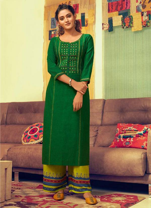 Rangoon Pick Up Series 2621RP-2628RP South Pure Cotton Flex With Stylish Work Festival Wear Palazzo Kurti Collection