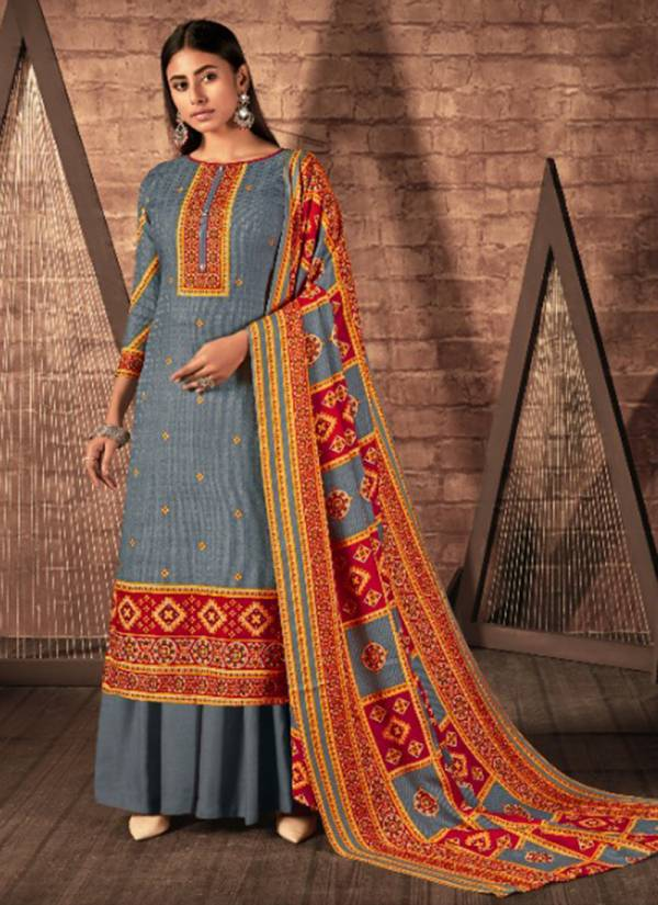 Kesari Trendz Aayat Series 9301-9306 Pure Pashmina Digital Style Printed Winter Special Pashmina Palazzo Suits Collection