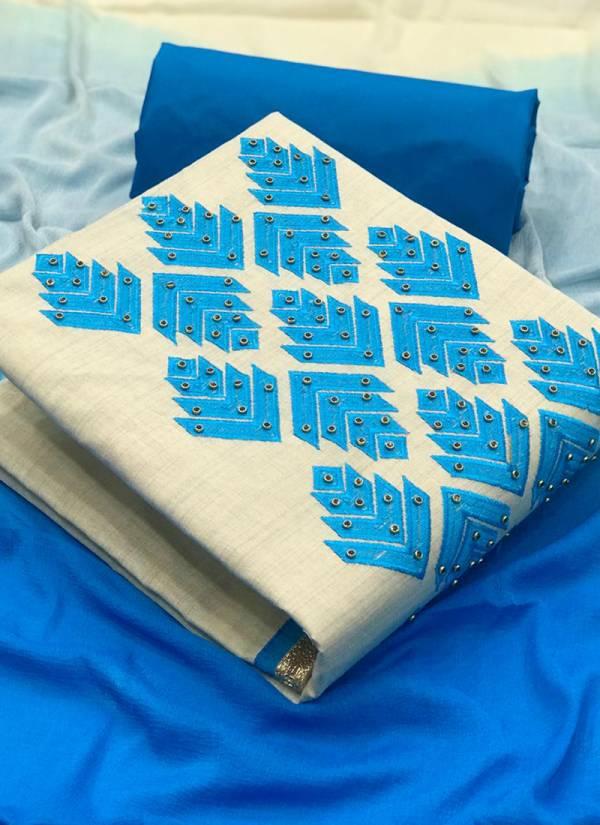 VT Designer Khadi 1 Series 1VT-4VT Khadi Cotton Embroidery Work With Stone Non Catalog Suits Collection