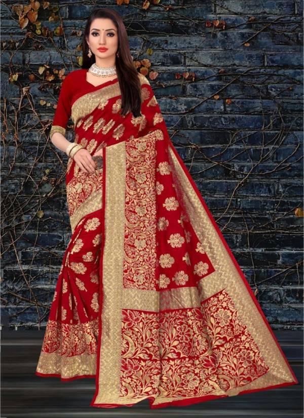 Kodas Kangan Series 346A-346D Handloom Jacquard Silk Latest Designer Sarees Collection