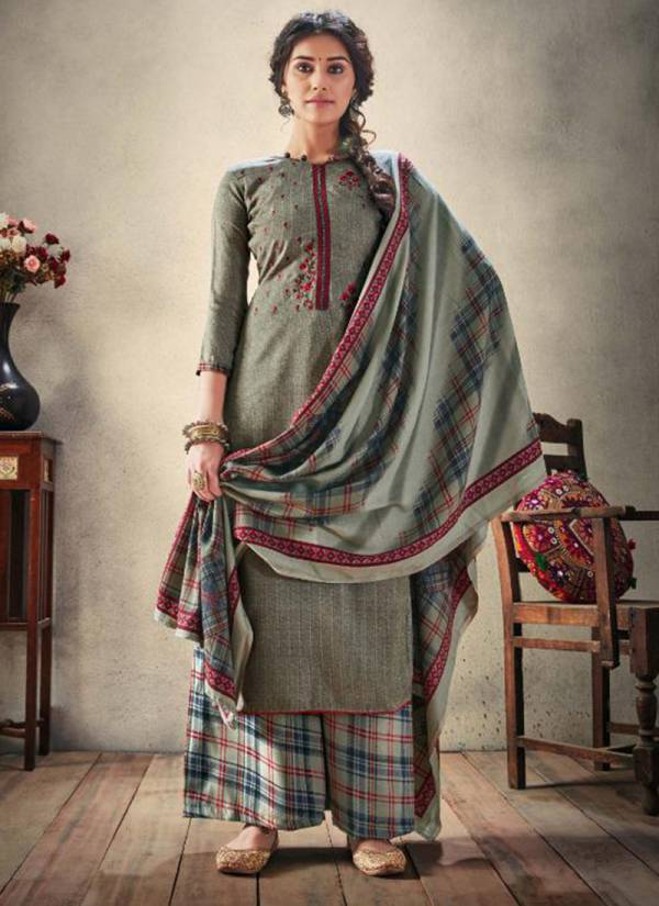 Winter Series 197-001-197-008 Pashmina Designer Prints With Embroidery Work Suits Collection