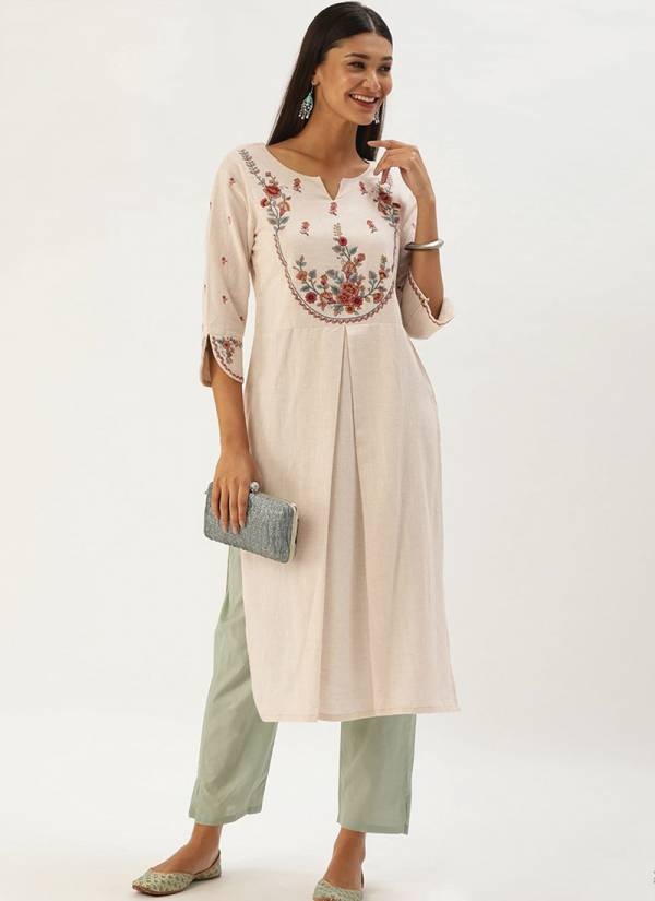 Touch Trends Khadi Sutra Designer Daily Wear Kurti And Pant Collection