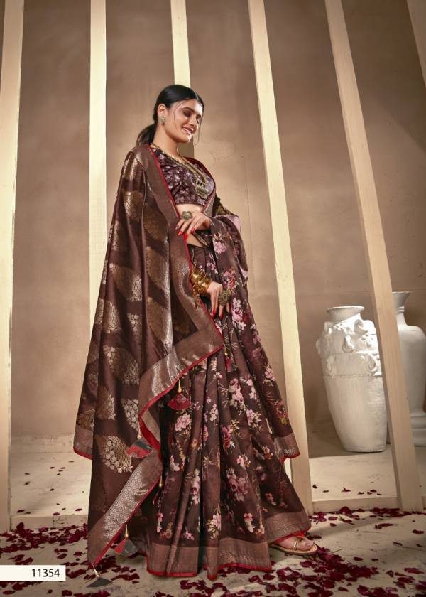 Shakunt Weaves Apurva Silk With Floral Digital Printed Sarees Collection