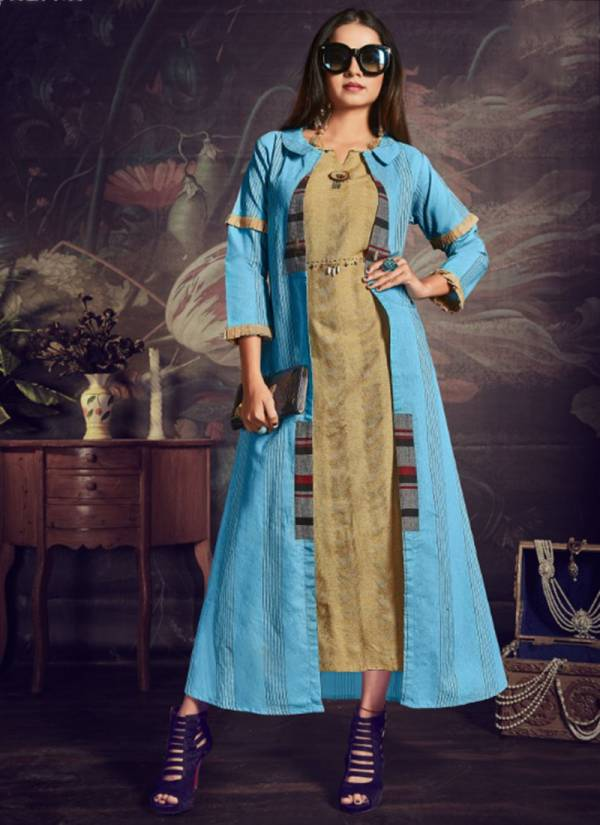 Vastra Moda Glamour Vol 1 Series 1001GLAMOUR-1004GLAMOUR Premium South Cotton Trendy Look Two Piece Kurtis With Shrugs Collection