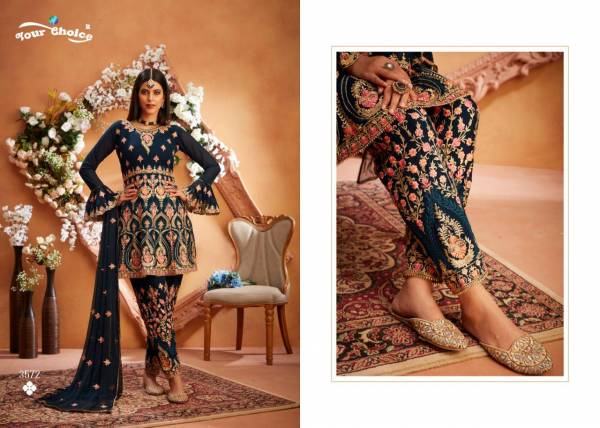 Your Choice Maria B Series 3571-3574 Fancy Look Blooming Georgette Full Stitched Wedding Wear Readymade Suits Collection