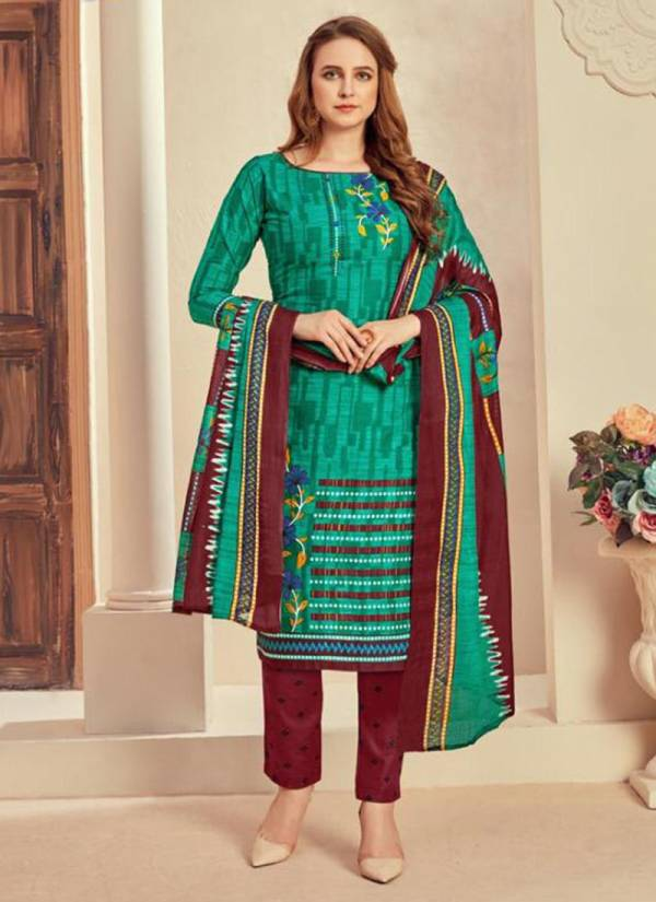 Megha Textile Raazi Vol 1 Cotton Daily Wear Designer Readymade Suits Collection