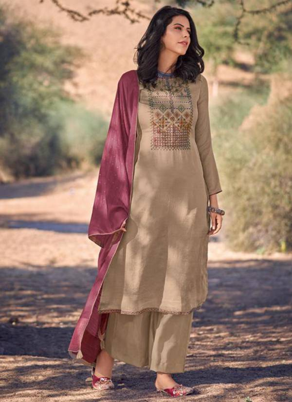 Deepsy Bailey Series 88001-88006 Mini Silk Latest Designer Self Embroidery Work Casual Wear Palazzo Suits Collection