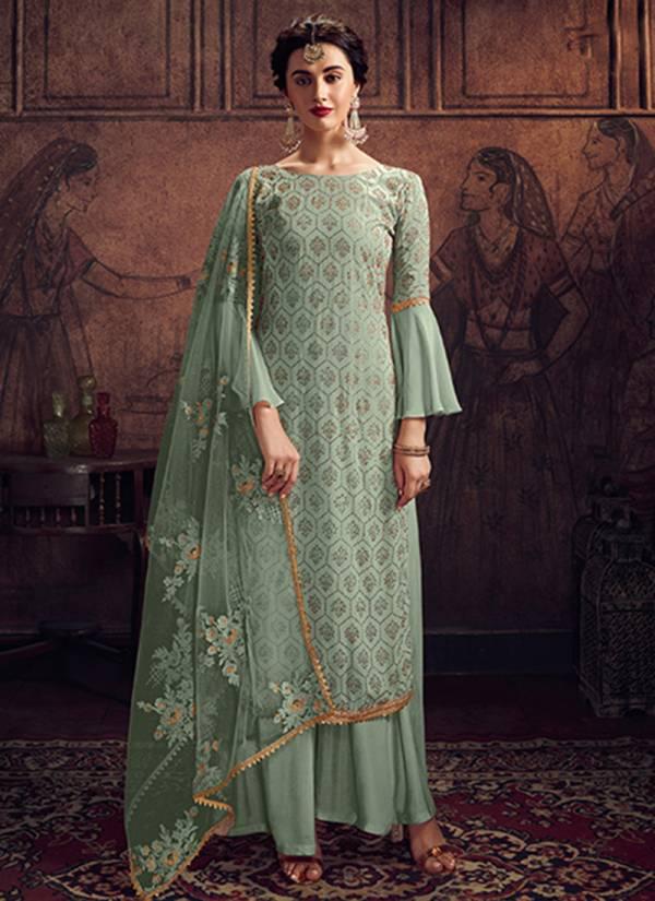 Maisha Series 8903A-8903D Rangoli Latest Designer Party Wear Swarovski Work Palazzo Suits Collection