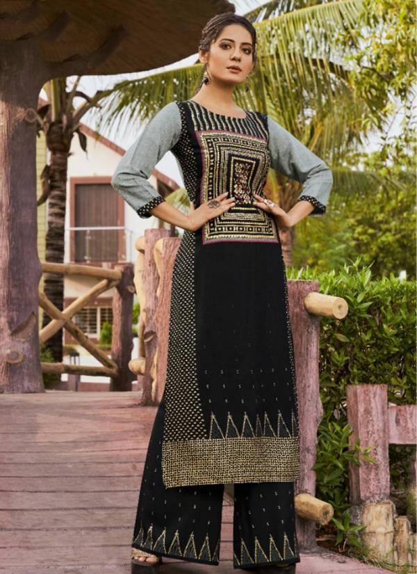 Kessi Dark Fantacy Series 2601-2604 Rayon Print Designer Fancy Casual Wear Kurti With Palazoo Collection