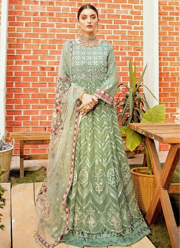 Rinaz Fashion Jazmin Vol 14 Series 4501-4504 Fuax Georgette With Heavy Embroidery Work & Diamond Work Wedding Wear New Designer Net Pakistani Suits Collection
