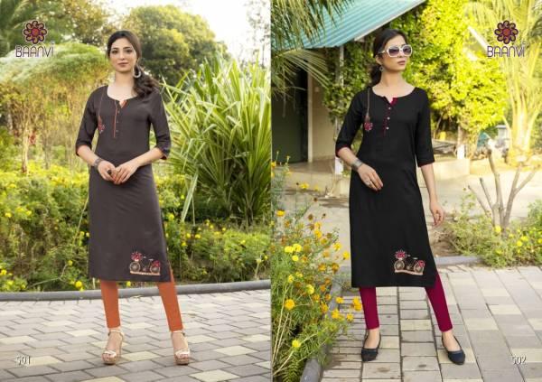 R Studio Sameera Vol 5 Series 501-506 Rayon Slub With Embroidery Work Designer Kurti Collection