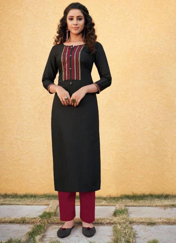 Kajree Pili Series 12220-12229 Fancy Lining With Fancy Work Office Wear Designer Kurti With Palazzo Collection