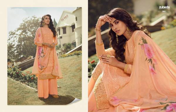 Zubeda Avantika Real Georgette With Heavy Embroidery Worked Designer Salwar Suit Collection