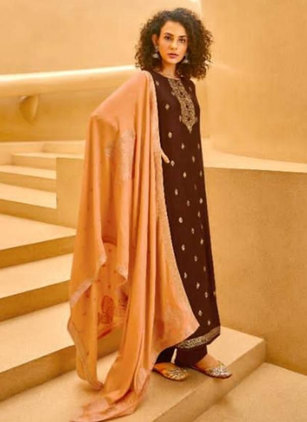 Ibiza Azviyah Series 790-797 Pure Pashmina Jacquard Latest Designer Traditional Wear Palazzo Suits Collection