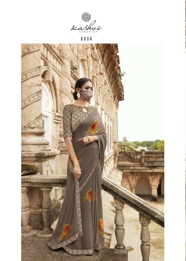 Kashvi Creation Sanskrit Series 6001-6010 Weightless Border With Printed Casual Wear Sarees Collection