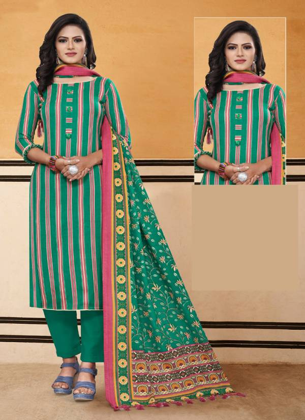 Bipson Lajoo Series 1230A-1230D Winter Special Printed Woollen Pashmina Latest Fancy Straight Suits Collection