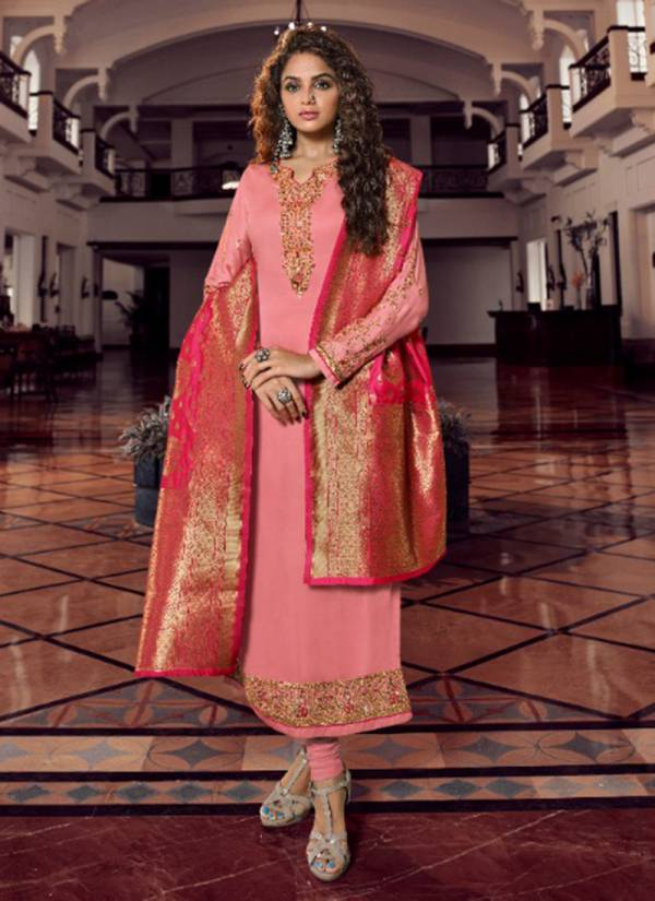 Zisha Banarasi Vol 9 Series 11901-11908 Georgette With Embroidery & Diamond Work Designer Traditional Wear Churidar Suits Collection