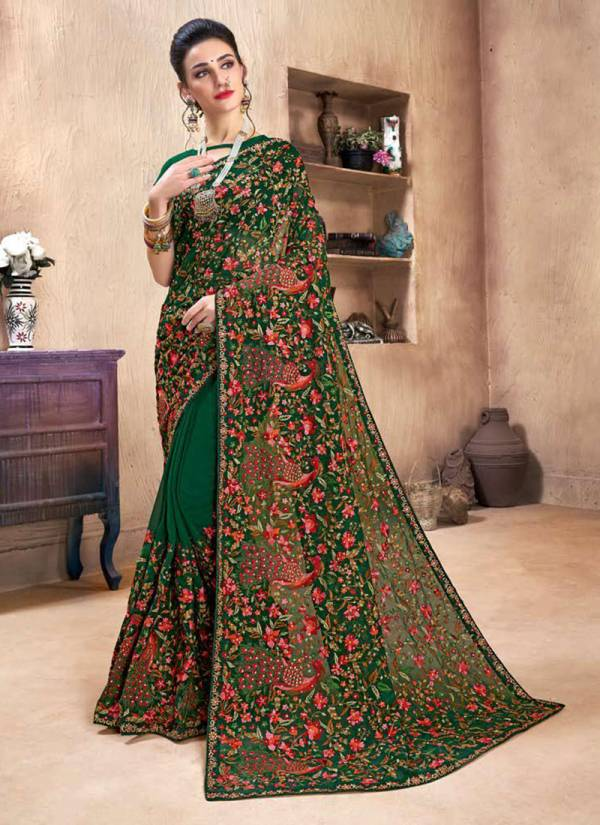 Saroj Fashion World 2 Series 43001-43006 Georgette With Heavy Kashmiri Work Latest Designer Sarees Collection