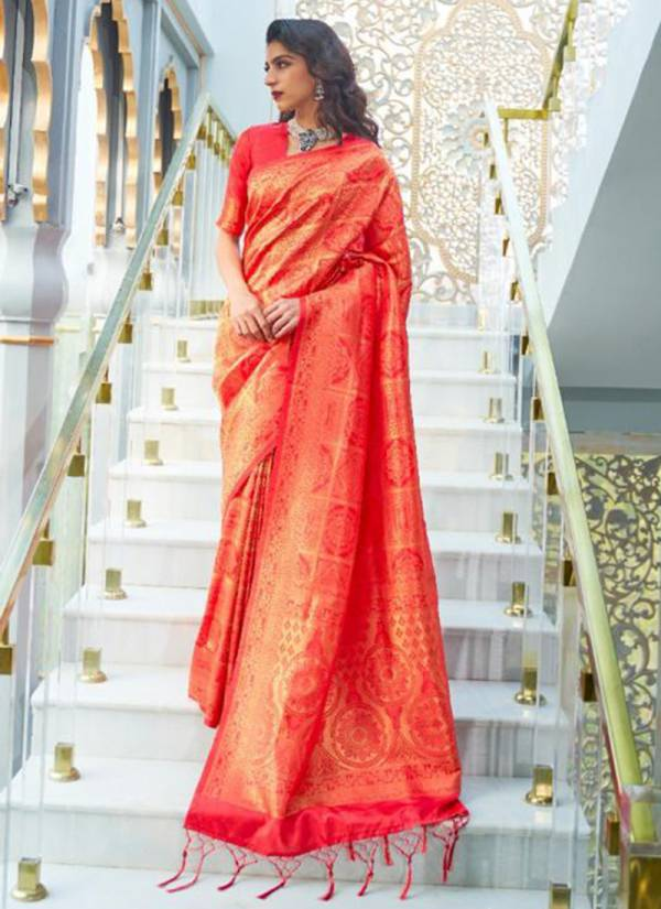 Rajtex Kashna Silk Handloom Weaving Fancy Hand Work With Rich Pallu Festival Wear Designer Sarees Collection