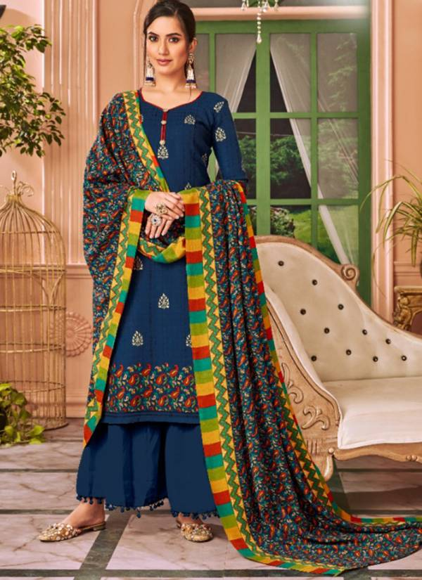winter Series 2001-2008 Pashmina With Foil Print Trendy Suits Collection