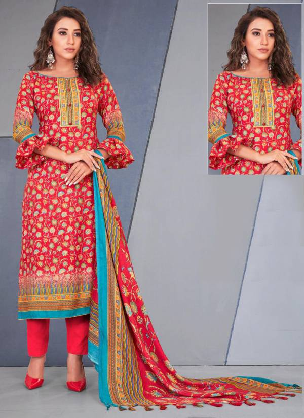 Bipson Preeto Series 1216A-1216D Pure Pashmina Digital Printed With Work Winter Special Daily Wear Salwar Suits Collection