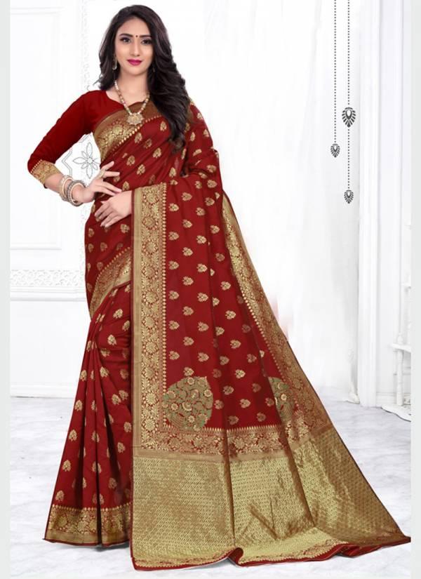 Kodas Melody Series 8270A-8270D Jacquard Silk Latest Designer Party Wear Handloom Sarees Collection
